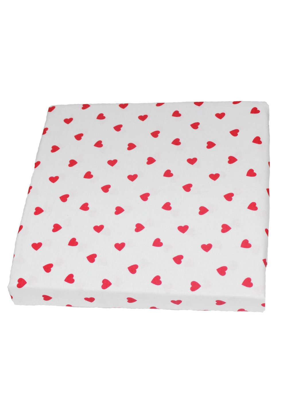 Cearceaf patut, Red hearts, 120x60cm imagine