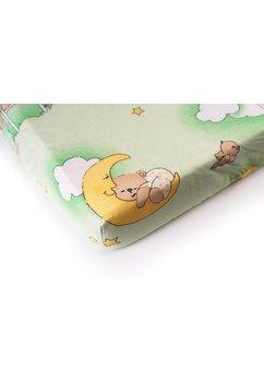 Cearceaf patut, 120 x 60 cm, ursuletul somnoros, verde