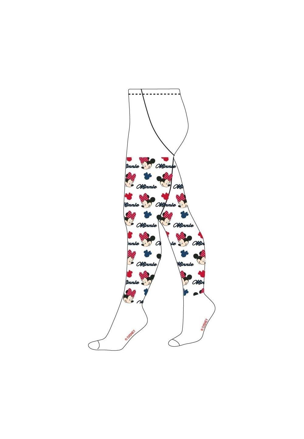 Ciorapi cu chilot, albi, Minnie cu fundita rosie imagine