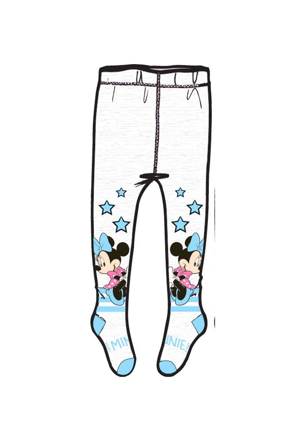 Ciorapi cu chilot, Minnie, albi cu stelute albastre imagine