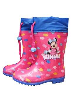 Cizme de cauciuc, Minnie, roz cu buline colorate