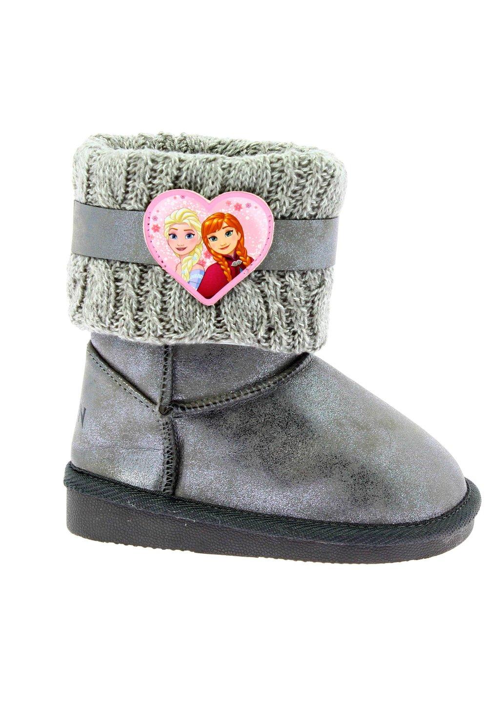 Cizme fete, Frozen, gri cu inimioara imagine