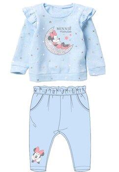 Compleu bebe, Minnie, albastru cu inimioare