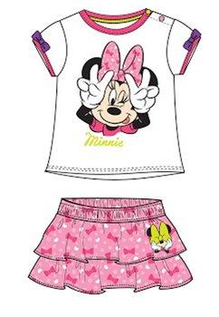 Compleu bebe, Minnie Mouse, alb