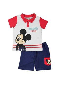 Compleu maneca scurta, Mickey, alb cu rosu