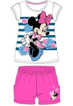 Compleu, maneca scurta, Minnie, roz