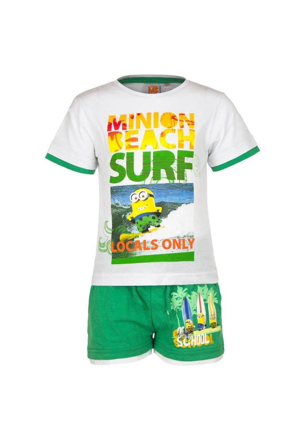 Compleu, Minion Surf, alb cu verde imagine