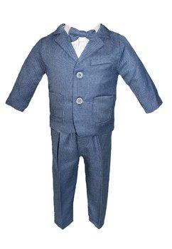 Costum botez, albastru