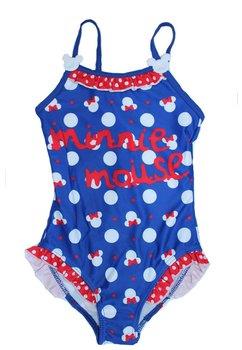 Costum de baie, intreg, cu print, Minnie, albastru