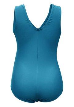 Costum de baie intreg, gravide, albastru