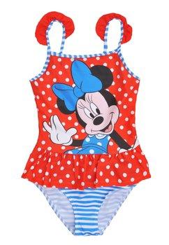 Costum de baie, intreg, rosu cu buline albe, Minnie