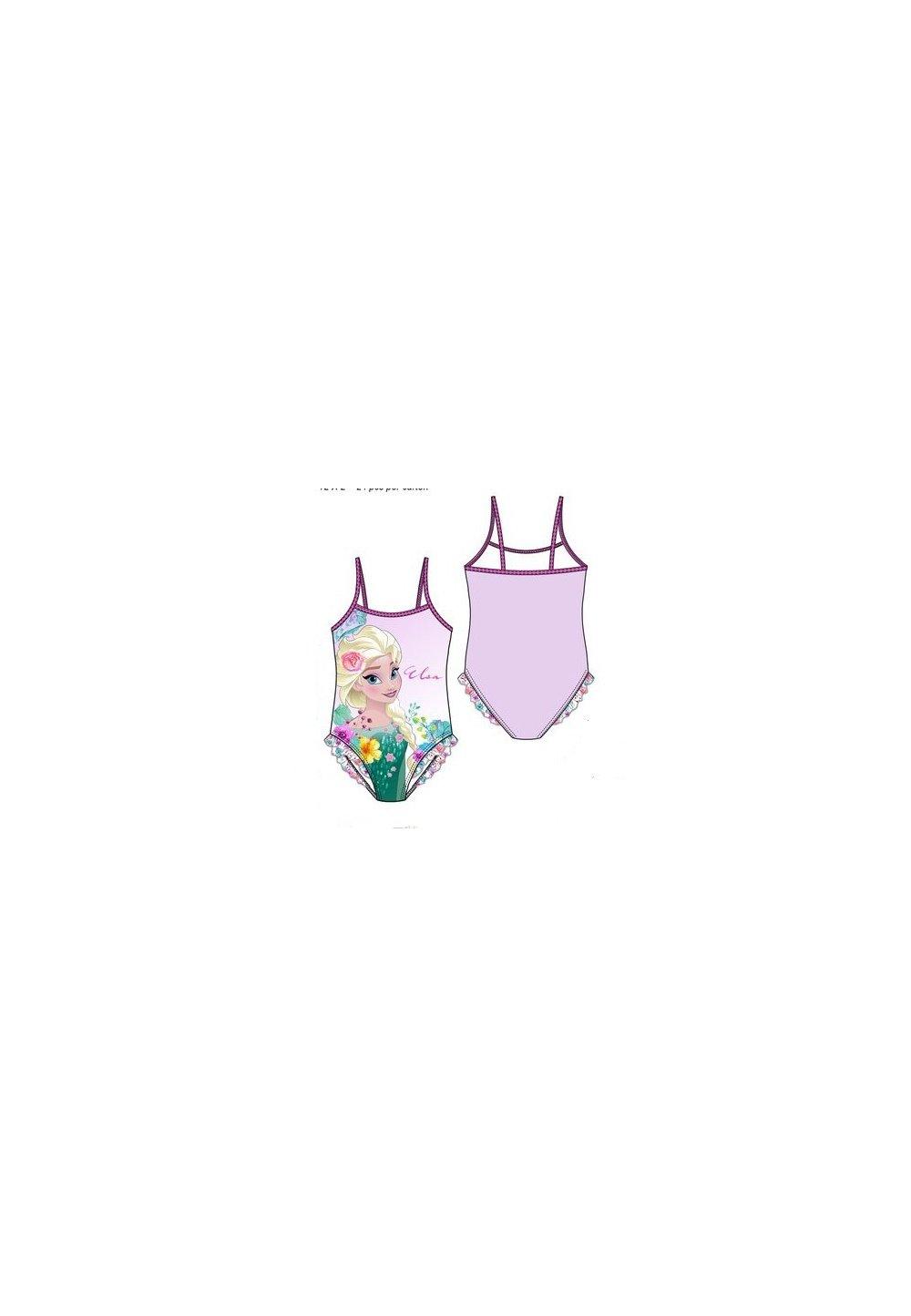 Costum de baie, intreg, roz, Printesa Elsa imagine