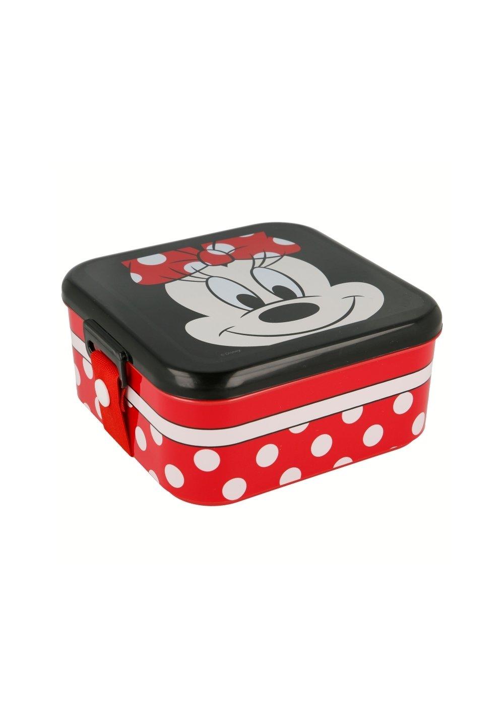 Cutie alimentara, rosie cu buline albe, Minnie Mouse imagine
