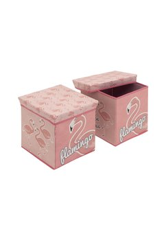 Cutie depozitare, Flamingo, roz