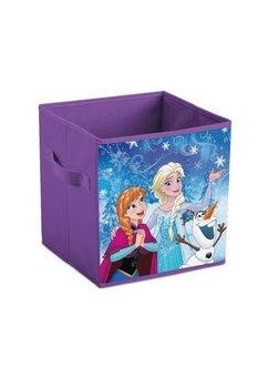 Cutie depozitare, pliabila, Anna si Elsa, mov