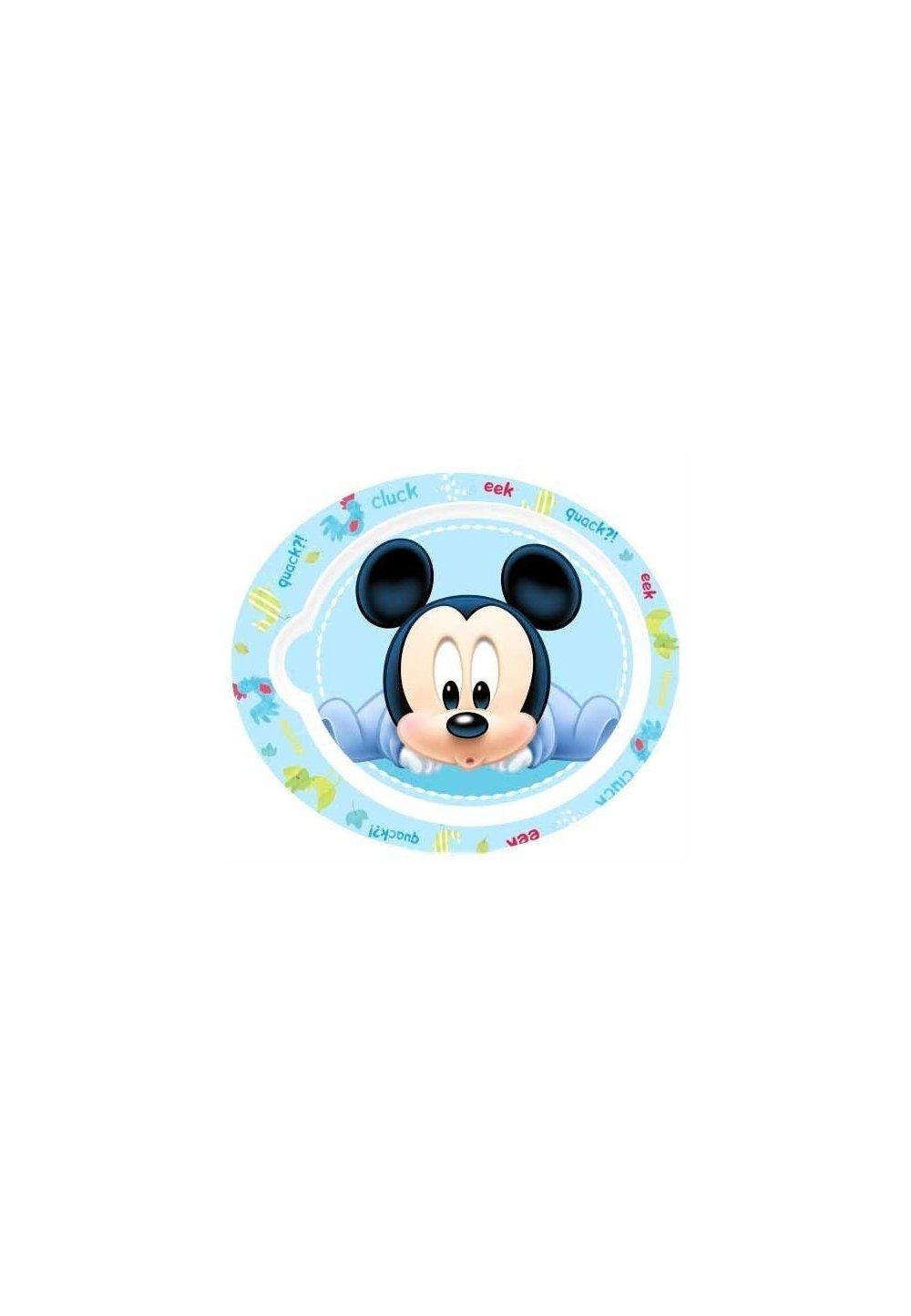 Farfurie Mickey Mouse, albastra imagine