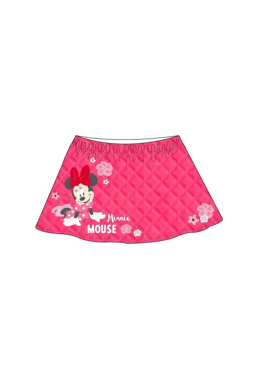 Fusta, Minnie Mouse, roz cu floricele imagine