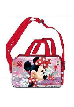 Geanta sport, Minnie Mouse, rosie cu buline albe