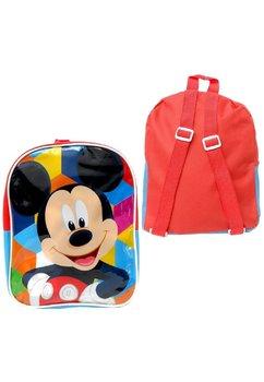 Ghiozdan, Mickey Mouse, rosu cu albastru