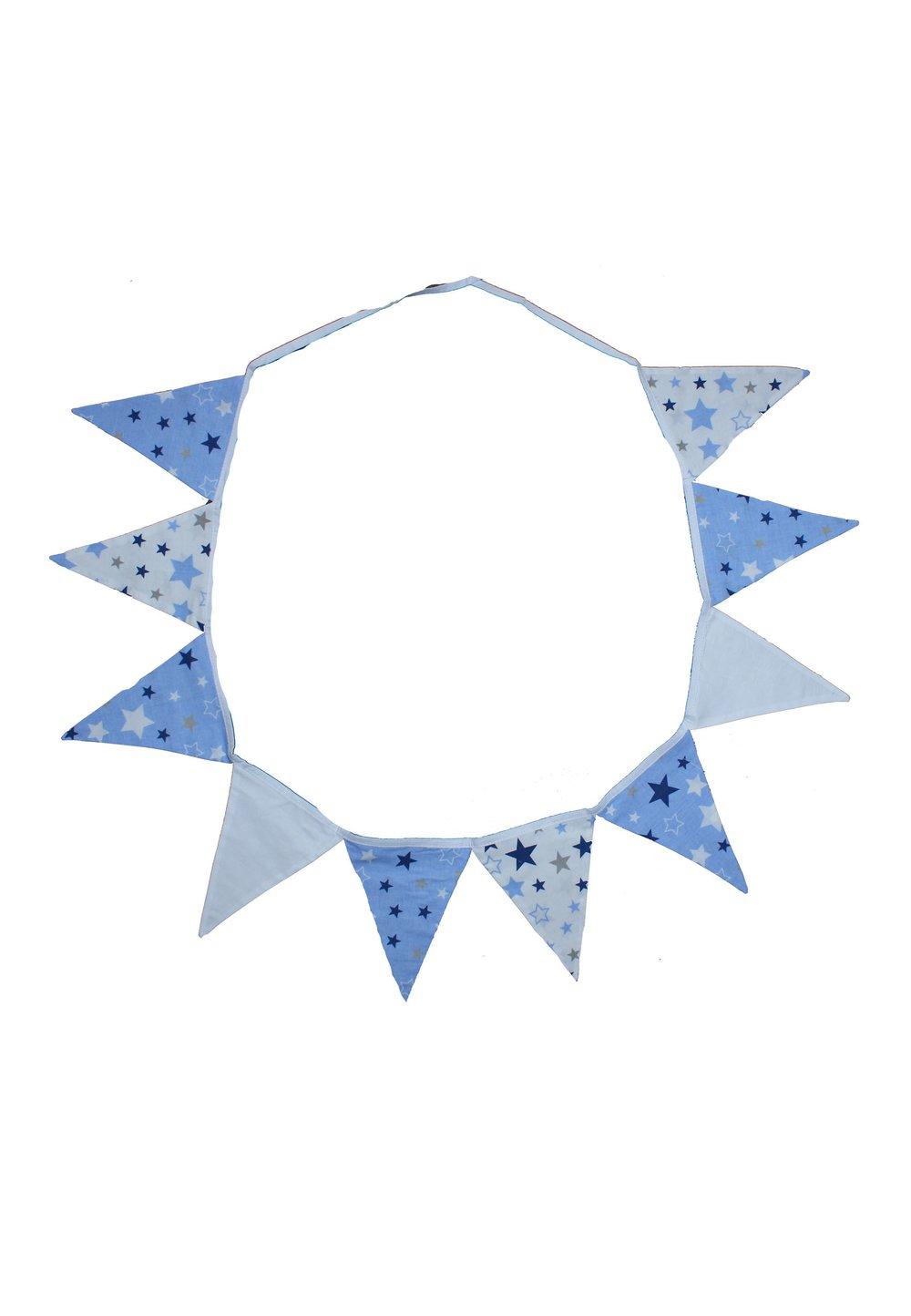 Ghirlanda stegulete, stelute doua fete, albastru, 3m imagine