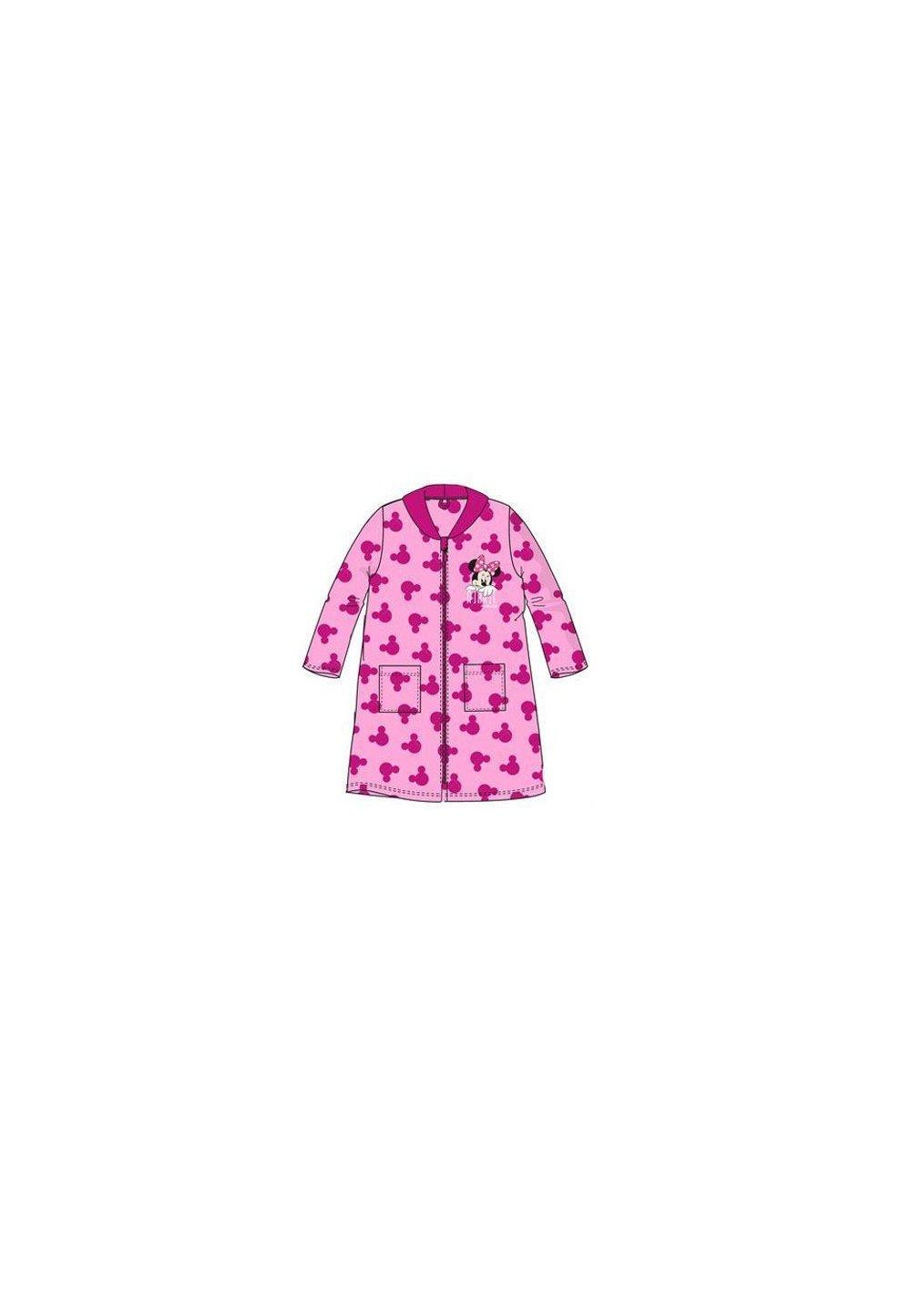 Halat de baie, cu fermoar, Minnie Mouse, roz imagine