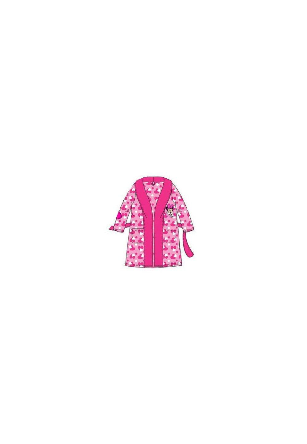 Halat de baie, cu imprimeu inimioare, Minnie Mouse,roz imagine