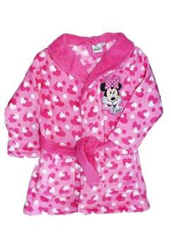 Halat de baie, cu imprimeu inimioare, Minnie Mouse,roz