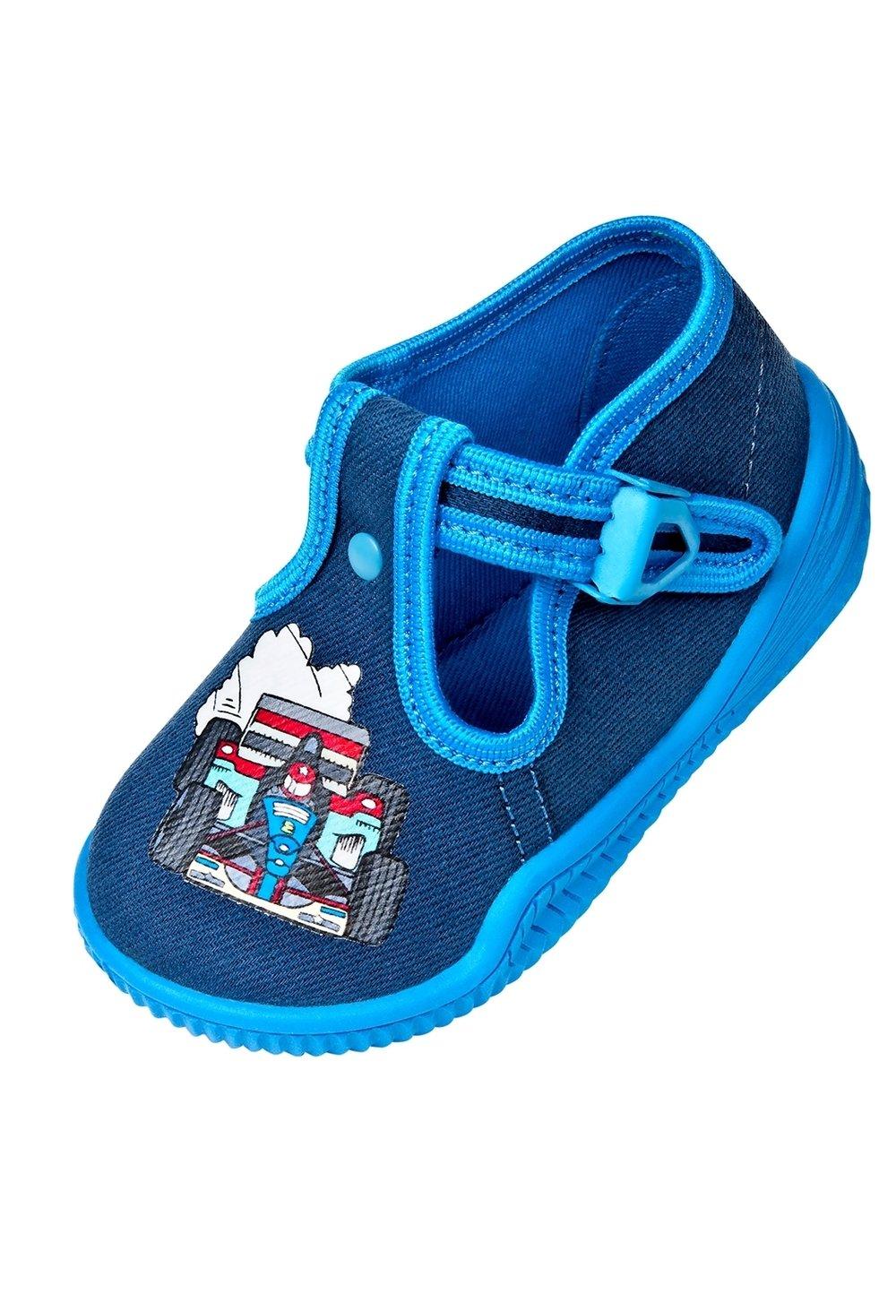 Incaltaminte panza, albastru cu bluemarin, Bambini cu masinuta imagine