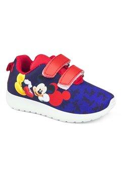 Incaltaminte sport cu scai, Mickey, bluemarin cu rosu