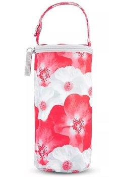 Izolator pentru biberoane, Lady mum, rosu cu flori
