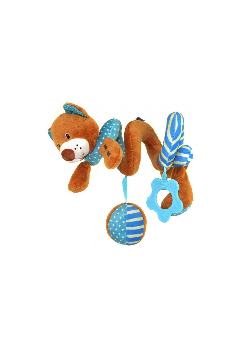 Jucarie pentru carucior spirala, ursulet, albastru