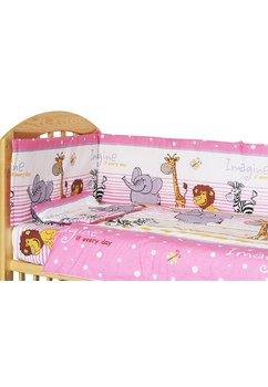 Lenjerie 3 piese safari,roz,120 x 60