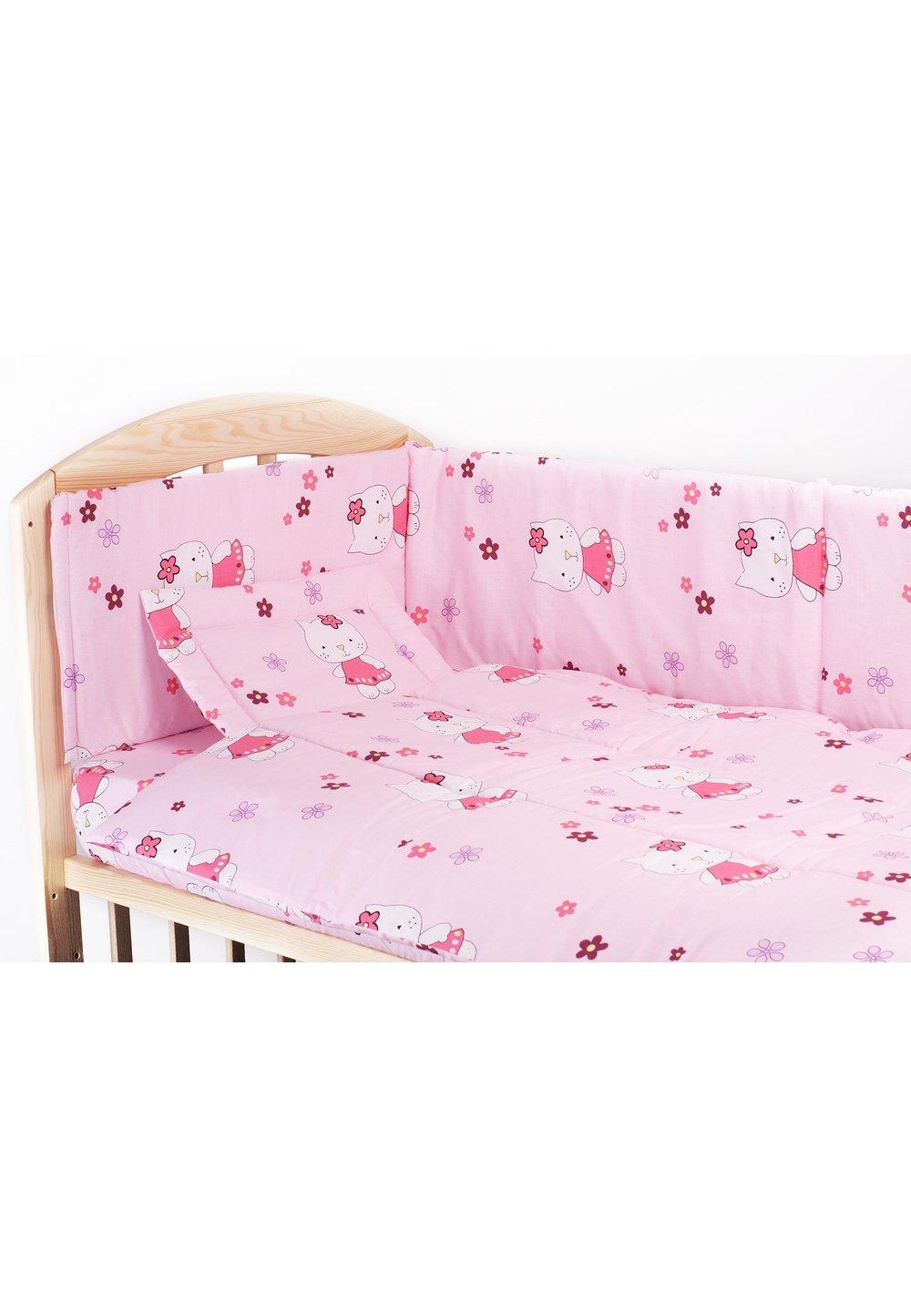 Lenjerie 3 piese kitty roz,120 x 60 cm imagine