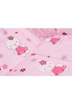 Lenjerie 3 piese kitty roz,120 x 60 cm