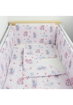 Lenjerie 3 piese, Unicornul roz, 120x60cm
