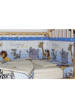 Lenjerie 4 piese, safari blue, 120x60 cm