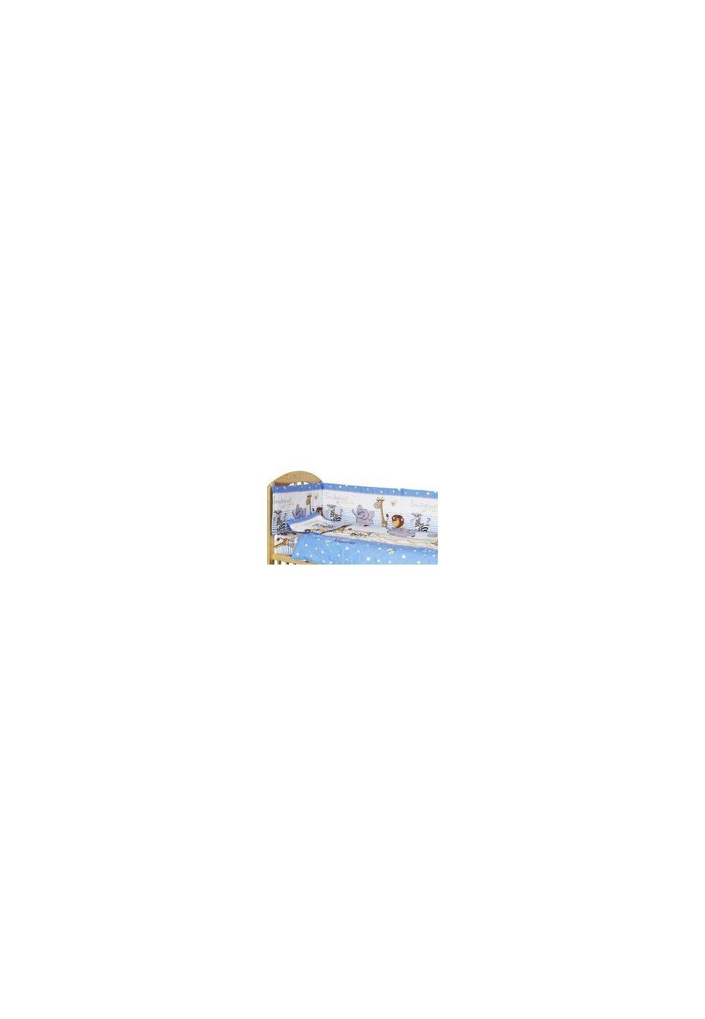 Lenjerie 5 piese animalute albastra, 140x70cm imagine