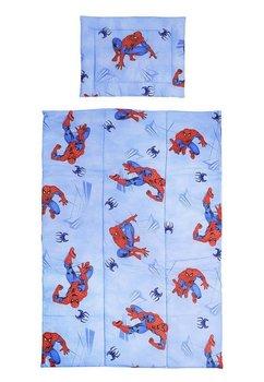 Lenjerie bumbac Spiderman,albastru, 4 piese