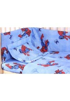 Lenjerie bumbac Spiderman,albastru, 5 piese, 140x70cm