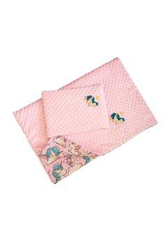 Lenjerie cu baldachin, Unicorn roz, 120 x 60 cm