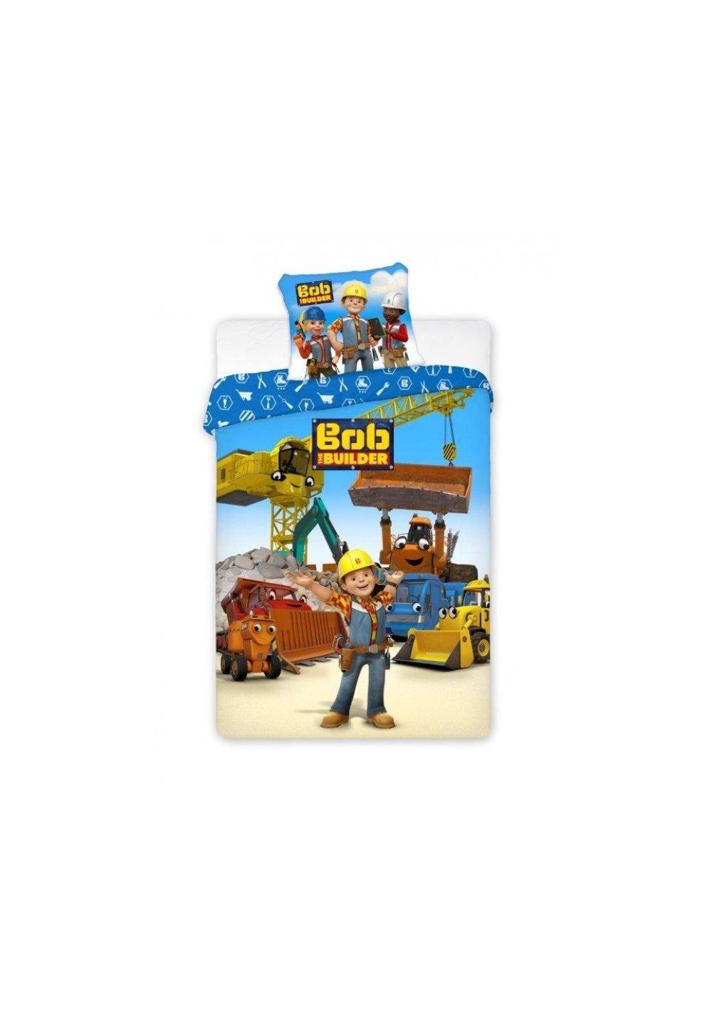 Lenjerie de pat, Bob the builder, 140 x 200 cm imagine
