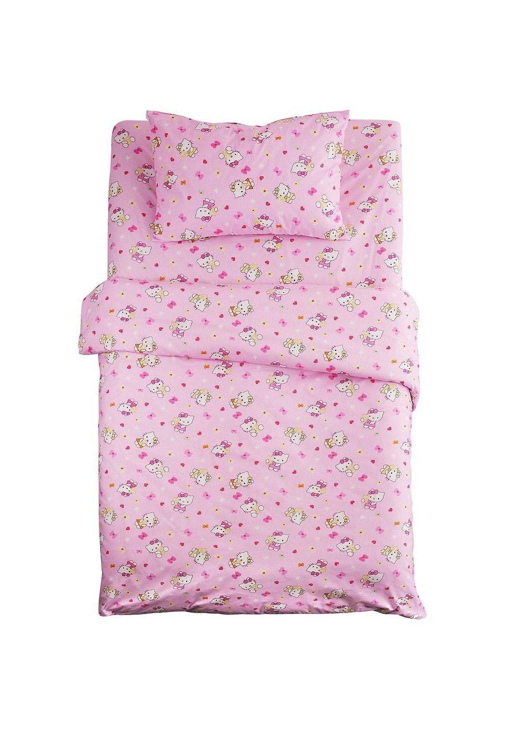 Lenjerie de pat, Hello Kitty roz, 3 piese, 160x200cm imagine