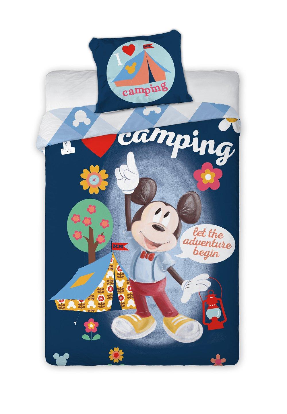 Lenjerie de pat, I love camping, 140 x 200 cm imagine