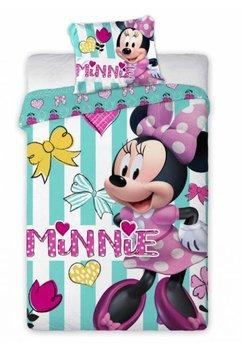 Lenjerie de pat, Minnie Mouse, cu floricele, 100x135cm