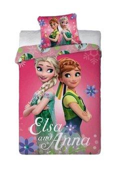 Lenjerie de pat, roz, Elsa si Anna, 160x200cm