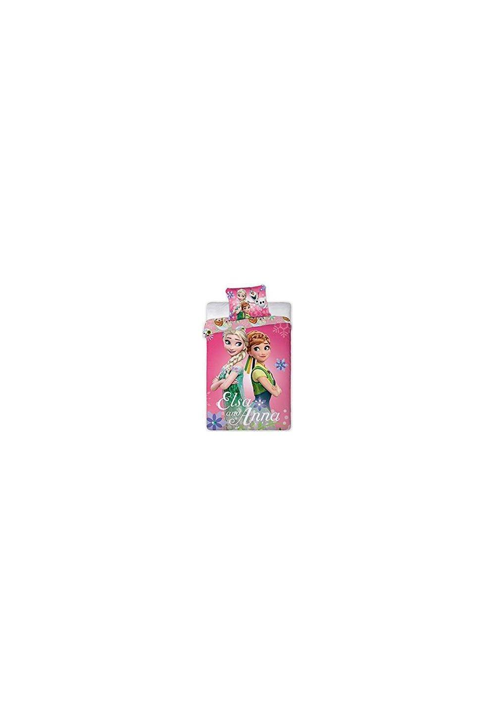 Lenjerie de pat, roz, Elsa si Anna, 160x200cm imagine