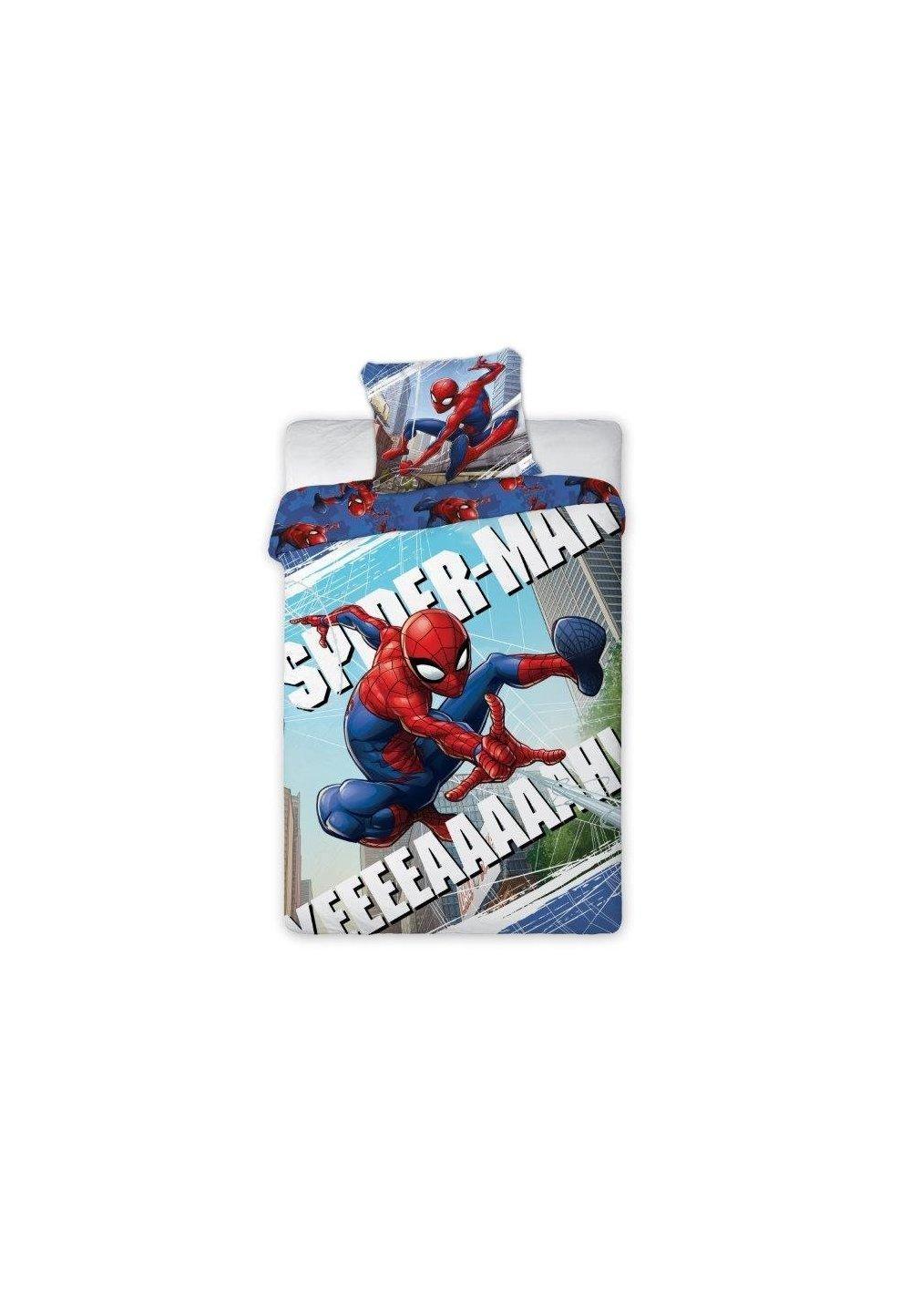 Lenjerie de pat, Spider, albastra 140x200cm imagine