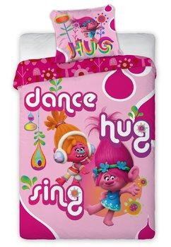 Lenjerie de pat Trolls, dance, hug, sing, 160x200cm