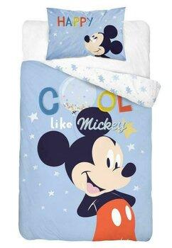 Lenjerie pat, Cool like Mickey,albastra, 100x135 cm