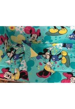 Lenjerie patut, 3 piese, Minnie si Mickey, 120 x 60 cm